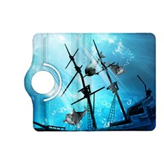 Underwater World With Shipwreck And Dolphin Kindle Fire HD (2013) Flip 360 Case