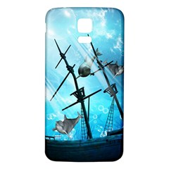 Underwater World With Shipwreck And Dolphin Samsung Galaxy S5 Back Case (white)
