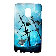 Underwater World With Shipwreck And Dolphin Galaxy Note Edge