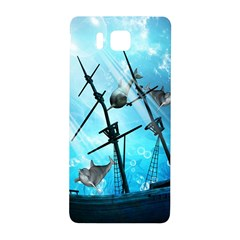 Underwater World With Shipwreck And Dolphin Samsung Galaxy Alpha Hardshell Back Case