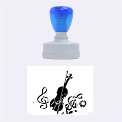 Violin With Violin Bow And Key Notes Rubber Oval Stamps