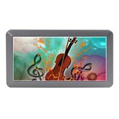 Violin With Violin Bow And Key Notes Memory Card Reader (Mini)