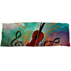 Violin With Violin Bow And Key Notes Body Pillow Cases Dakimakura (two Sides)