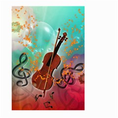 Violin With Violin Bow And Key Notes Large Garden Flag (two Sides)