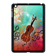 Violin With Violin Bow And Key Notes Apple iPad Mini Case (Black)