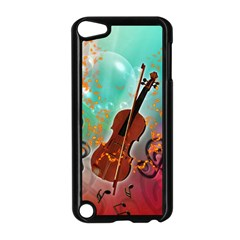 Violin With Violin Bow And Key Notes Apple iPod Touch 5 Case (Black)