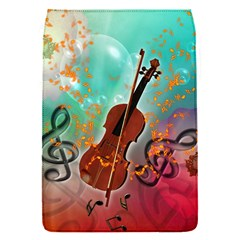 Violin With Violin Bow And Key Notes Flap Covers (S)