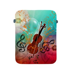 Violin With Violin Bow And Key Notes Apple Ipad 2/3/4 Protective Soft Cases