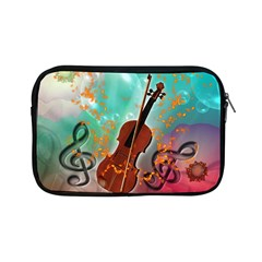 Violin With Violin Bow And Key Notes Apple Ipad Mini Zipper Cases