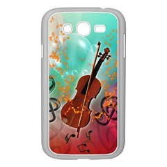 Violin With Violin Bow And Key Notes Samsung Galaxy Grand DUOS I9082 Case (White)