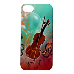 Violin With Violin Bow And Key Notes Apple iPhone 5S Hardshell Case