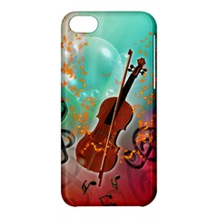Violin With Violin Bow And Key Notes Apple iPhone 5C Hardshell Case