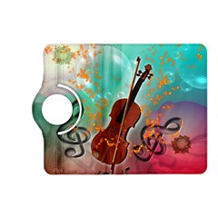 Violin With Violin Bow And Key Notes Kindle Fire HD (2013) Flip 360 Case