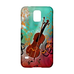 Violin With Violin Bow And Key Notes Samsung Galaxy S5 Hardshell Case