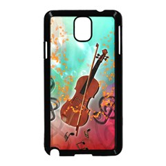 Violin With Violin Bow And Key Notes Samsung Galaxy Note 3 Neo Hardshell Case (Black)