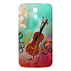 Violin With Violin Bow And Key Notes Samsung Galaxy Mega I9200 Hardshell Back Case