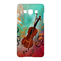 Violin With Violin Bow And Key Notes Samsung Galaxy A5 Hardshell Case