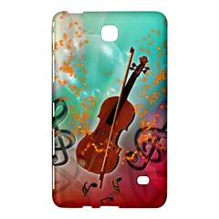 Violin With Violin Bow And Key Notes Samsung Galaxy Tab 4 (7 ) Hardshell Case