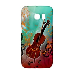 Violin With Violin Bow And Key Notes Galaxy S6 Edge