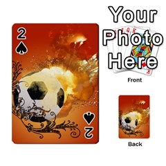 Soccer With Fire And Flame And Floral Elelements Playing Cards 54 Designs