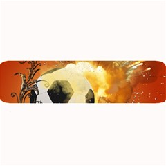 Soccer With Fire And Flame And Floral Elelements Large Bar Mats