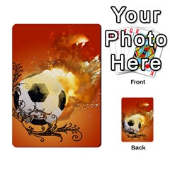 Soccer With Fire And Flame And Floral Elelements Multi-purpose Cards (Rectangle)