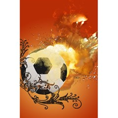 Soccer With Fire And Flame And Floral Elelements 5 5  X 8 5  Notebooks