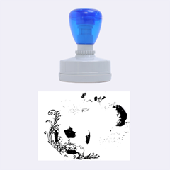 Soccer With Fire And Flame And Floral Elelements Rubber Oval Stamps