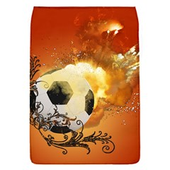 Soccer With Fire And Flame And Floral Elelements Flap Covers (S)