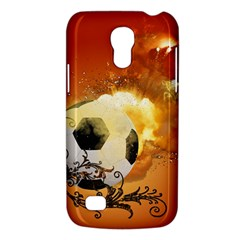 Soccer With Fire And Flame And Floral Elelements Galaxy S4 Mini