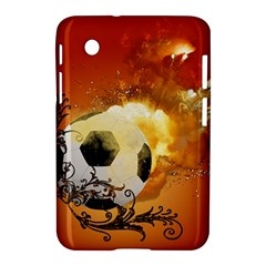 Soccer With Fire And Flame And Floral Elelements Samsung Galaxy Tab 2 (7 ) P3100 Hardshell Case