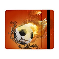 Soccer With Fire And Flame And Floral Elelements Samsung Galaxy Tab Pro 8.4  Flip Case