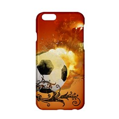 Soccer With Fire And Flame And Floral Elelements Apple iPhone 6/6S Hardshell Case