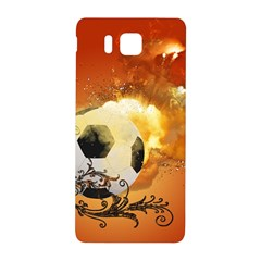Soccer With Fire And Flame And Floral Elelements Samsung Galaxy Alpha Hardshell Back Case