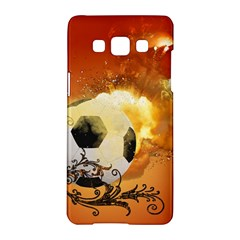 Soccer With Fire And Flame And Floral Elelements Samsung Galaxy A5 Hardshell Case