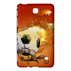Soccer With Fire And Flame And Floral Elelements Samsung Galaxy Tab 4 (8 ) Hardshell Case