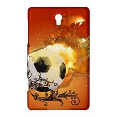 Soccer With Fire And Flame And Floral Elelements Samsung Galaxy Tab S (8.4 ) Hardshell Case