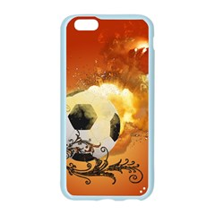 Soccer With Fire And Flame And Floral Elelements Apple Seamless iPhone 6/6S Case (Color)