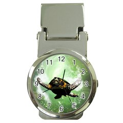 Beautiful Seaturtle With Bubbles Money Clip Watches