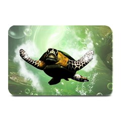Beautiful Seaturtle With Bubbles Plate Mats