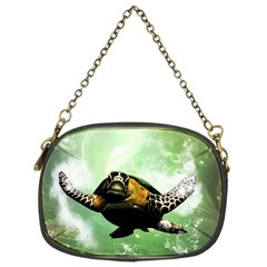 Beautiful Seaturtle With Bubbles Chain Purses (Two Sides)