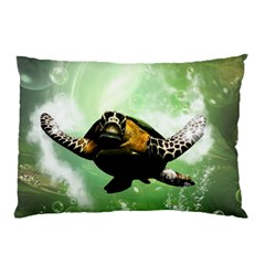 Beautiful Seaturtle With Bubbles Pillow Cases