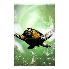 Beautiful Seaturtle With Bubbles Shower Curtain 48  x 72  (Small)