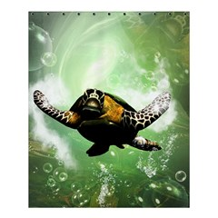 Beautiful Seaturtle With Bubbles Shower Curtain 60  X 72  (medium)