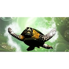 Beautiful Seaturtle With Bubbles YOU ARE INVITED 3D Greeting Card (8x4)