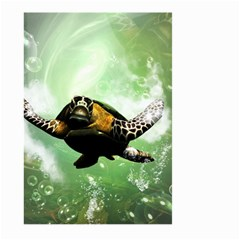 Beautiful Seaturtle With Bubbles Large Garden Flag (Two Sides)