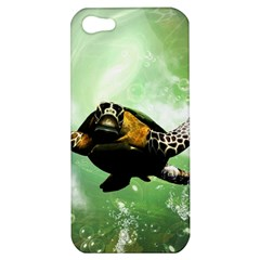 Beautiful Seaturtle With Bubbles Apple iPhone 5 Hardshell Case