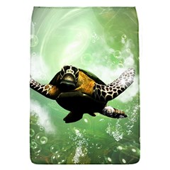 Beautiful Seaturtle With Bubbles Flap Covers (S)