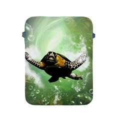 Beautiful Seaturtle With Bubbles Apple Ipad 2/3/4 Protective Soft Cases