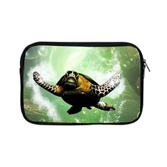 Beautiful Seaturtle With Bubbles Apple iPad Mini Zipper Cases